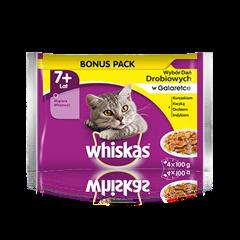 Whiskas® wybór dań drobiowych w galaretce. 7+
