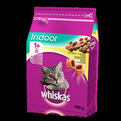 Whiskas<sup>®</sup> sucha karma Indoor z kurczakiem <br/>800 g. 1+