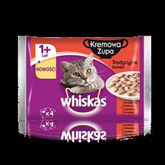 Whiskas<sup>®</sup> zupa kremowa. Tradycyjne smaki. 1+