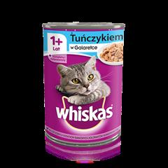 Whiskas<sup>®</sup> puszka z tuńczykiem w galeretce. 1+