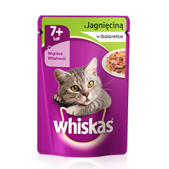 Whiskas® saszetka z jagieciną w galaretce.7+