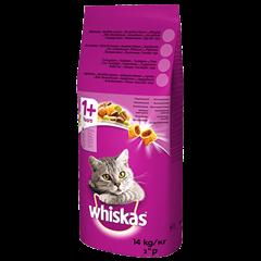 Karma sucha dla kota 1+ WHISKAS® z Kurczakiem 14 kg