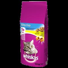Karma sucha dla kota po sterylizacji WHISKAS® 1+ Sterile z Kurczakiem 14 kg