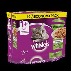 Whiskas potrawka smaki rybne i tradycyjne  w galarecie 1+