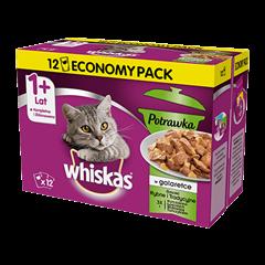 Mokra karma dla kota 1+ WHISKAS® 1+ Potrawka Smaki Rybne i Tradycyjne w Galaretce 12x 85 g