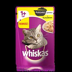 Whiskas<sup>®</sup> potrawka z kurczakiem w galarecie. 1+