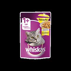 Mokra karma dla kota 1+ Whiskas® Potrawka z Kurczakiem w Galaretce 85 g