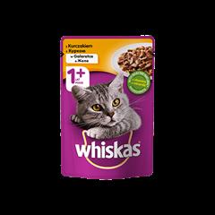 Mokra karma dla kota 1+ WHISKAS® z Kurczakiem w Galaretce, 100 g
