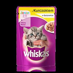 Whiskas® saszetka z kurczakiem w galarecie. 2-12 miesięcy