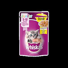 Mokra karma dla kociąt WHISKAS® Junior Potrawka z Kurczakiem w Galaretce 85 g