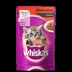 Whiskas® saszetka z wołowiną w sosie. 2-12 miesięcy