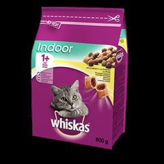 Karma sucha dla kota 1+ WHISKAS® Indoor z Kurczakiem 800 g