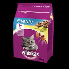 Karma sucha dla kota po sterylizacji WHISKAS® 1+ Sterile z Kurczakiem 300 g