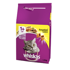 Karma sucha dla kota WHISKAS® 1+ z Kurczakiem 1,4 kg