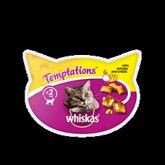 WHISKAS® Temptations z kurczakiem i serem 60 g - przysmak dla kota