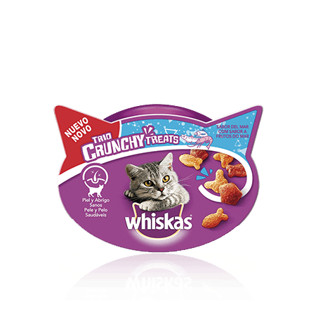 WHISKAS® Snacks Trio Crunchy Sabores do Mar