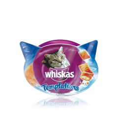 WHISKAS® Snacks Temptations de Salmão