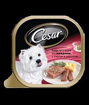 Трей CESAR<sup>&reg;</sup> бефстроганов из говядины с сыром и укропом