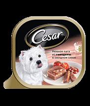 Трей CESAR<sup>&reg;</sup> нежное патэ из говядины в овощном соусе