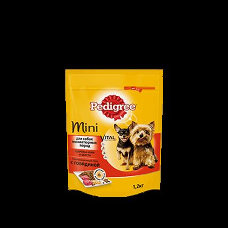 PEDIGREE® для взрослых собак миниатюрных пород, полнорационный корм с говядиной