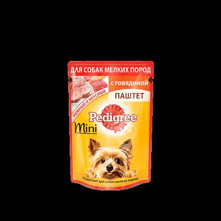 PEDIGREE® Паштет для взрослых собак мелких пород с говядиной