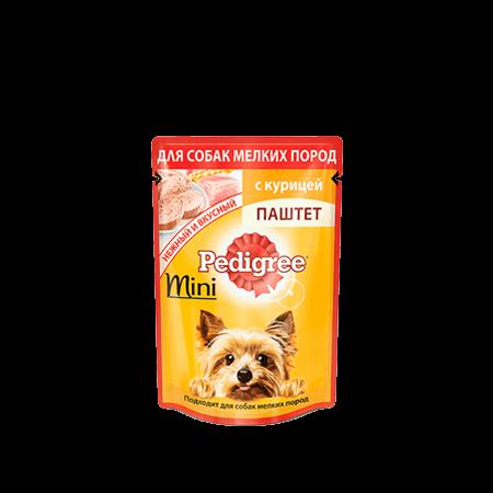 PEDIGREE<sup>®</sup>® Паштет для взрослых собак мелких пород с курицей