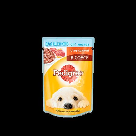 PEDIGREE<sup>®</sup>® для щенков от 1 месяца с говядиной