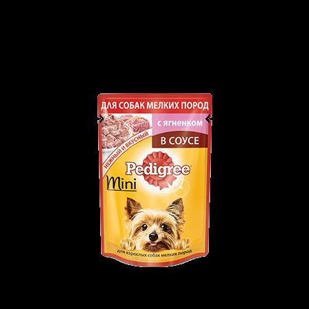 PEDIGREE® для взрослых собак мелких пород с ягненком в соусе