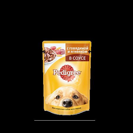 PEDIGREE® для взрослых собак всех пород с говядиной и ягненком