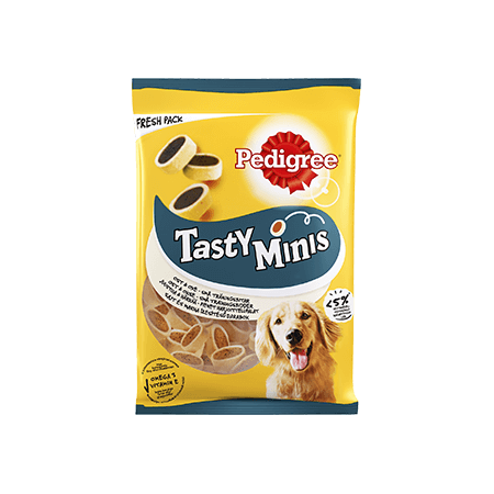 Pedigree<sup>®</sup> Tasty Minis Ost & Oxe
