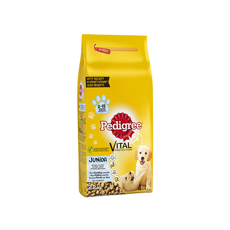 Pedigree<sup>®</sup>  Vital Protection™ Junior Kyckling & Ris