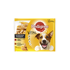 PEDIGREE® Adult i sås 4x100g