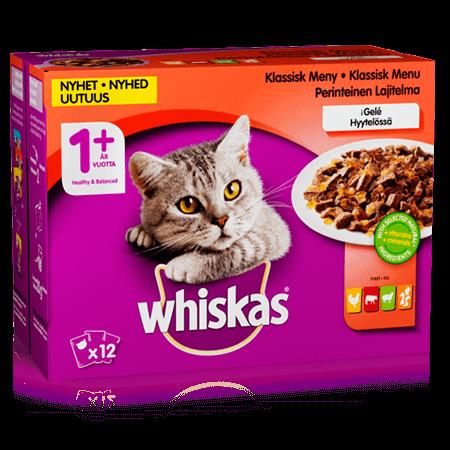 Whiskas® 1+ Klassisk meny i Gelé