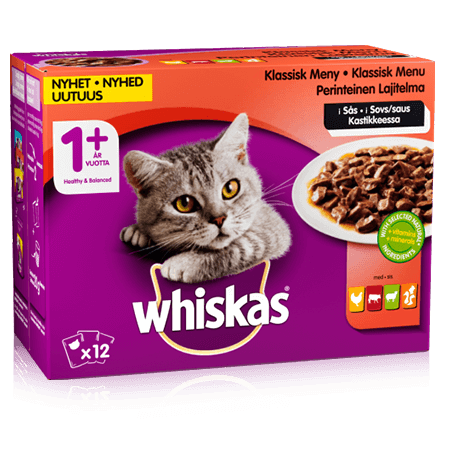 Whiskas® 1+ Klassisk meny i sås