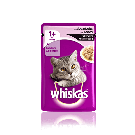 Whiskas 1+ Lax i sås Single