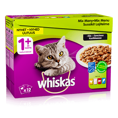 Whiskas® 1+ Mix meny i sås