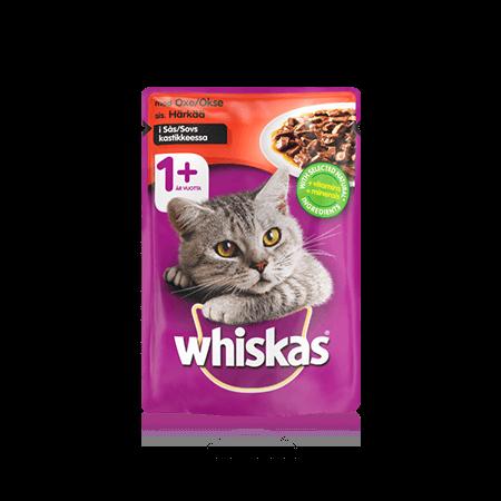 Whiskas® 1+ Oxe i Sås Single