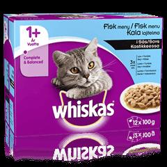 Whiskas® 1+ Fiskmeny i Sås