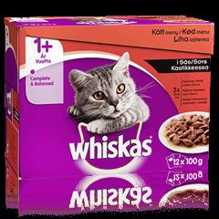 Whiskas® 1+ Köttmeny i Sås