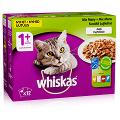 Whiskas® 1+ Mix meny i gelé