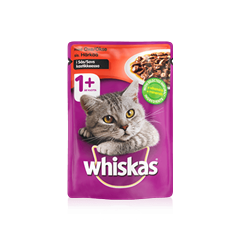Whiskas® 1+ Oxe i Sås Single