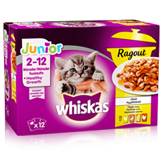 Whiskas Junior Ragout Fågelmeny