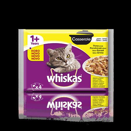Whiskas Casserole 1+ Perutninski izbor 4 x 85 g