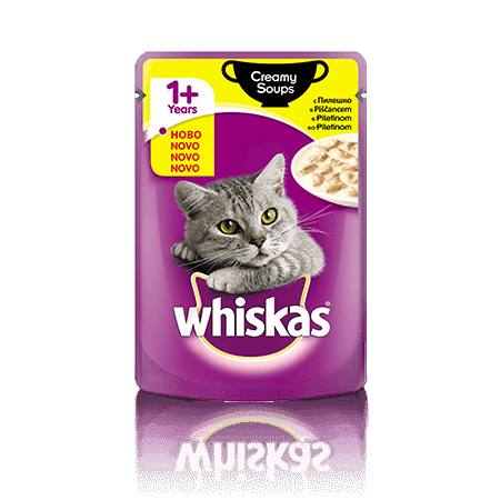 Whiskas Creamy Soup  1+ s Piščancem  100 g
