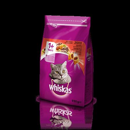 Whiskas suha hrana z Govedino 1+ 950 g