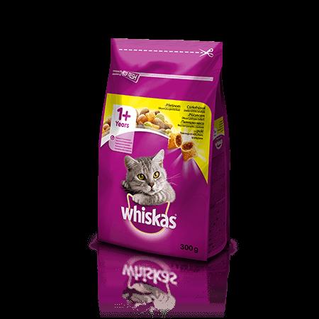 Whiskas suha hrana s Piščancem 1+ 300 g