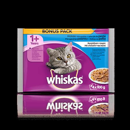 Whiskas Ribji izbor v želeju 1+  4 x 100 g