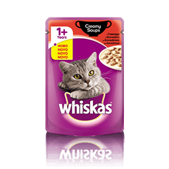 Whiskas Creamy Soup  1+ z Govedino 100 g