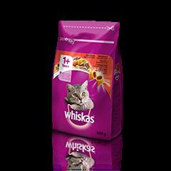 Whiskas suha hrana z Govedino 1+ 300 g