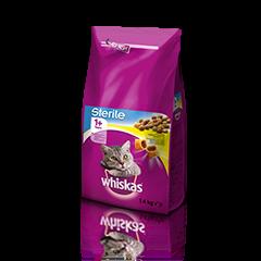 Whiskas Sterile suha hrana s Piščancem 1+ 1.4 kg